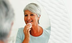 There are simple makeup tricks you can do to help you look younger. See more healthy aging pictures.