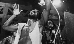 Jamaican reggae group Toots and the Maytals performingat the 15th Montreux Jazz Festival in 1981.
