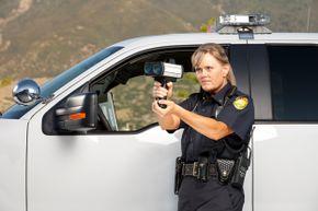 Most police simply look for cars that are going too fast, and then pull those cars over, regardless of color.
