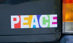 There are more than 100,000 bumper stickers available on MySpace.