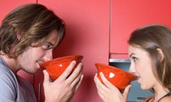 What could be more romantic than slurping soup with your sweetie?