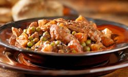 Warm, filling stew is a family favorite. This chicken stew variation packs more protein into each serving.