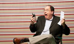When analyzing your cell phone usage, you don't want to end up like this guy. Save your sanity with online tools.