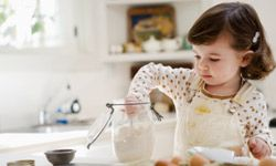 Cooking together is a wonderful way to make memories. These safe cooking activities are fun and educational for your little ones. See more pictures of kid-friendly recipes.