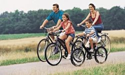 Bicycling can be a great way for the family to enjoy a vacation.