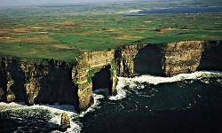 A cycling vacation in County Clare may take you along the amazing Cliffs of Moher.