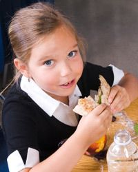 To limit your child's sodium intake from school cafeteria food, send her with a brown bag lunch.