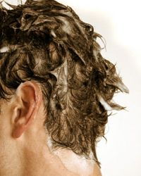 Be sure to massage shampoo into your scalp to remove oils, sweat and other buildup.