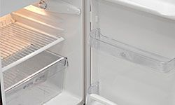 It's much easier to clean your fridge when it's empty. Wait to do the wipedown before or after vacation.