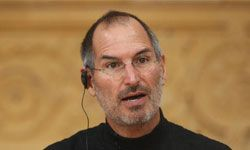 Steve Jobs speaks at a press conference in Berlin on Sept. 19, 2007.