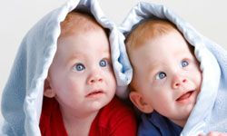 Not all twins end up like this cute pair.
