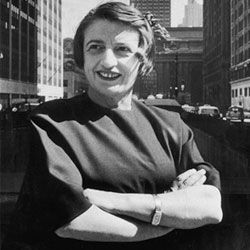 Ayn Rand, philosophical muse of the Objectivist Party.