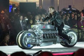 The Dodge Tomahawk concept motorcycle was unveiled at the North American International Auto Show in Detroit, Mich., on Jan. 6, 2003. The 500-horsepower Viper V-10 engine gives the Tomahawk a potential top speed of nearly 400 miles per hour.