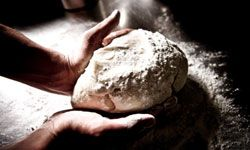 Kneading dough early in the morning is a pastry chef's delight.