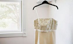 An empire waist lends Old World romance to your wedding day look.