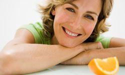 Eat an orange. It's good for your skin.