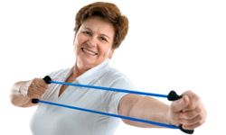 Strength training with resistance bands is a great way for older adults to become stronger and more flexible while fighting bone loss and arthritis pain. See more healthy aging pictures.