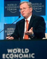 Google CEO Eric Schmidt addresses the World Economic Forum in January 2010.