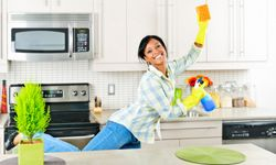 This lady's excited to deep clean her house, but is there more to it than that?