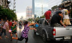 In Thailand, people have fun soaking each other on Songkran.