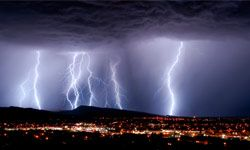 Know a friend who loves watching lightning in action? Now is not the time to call him. Electricity can travel through your land-line telephone, plumbing or any wires and shock you.
