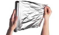 Aluminum foil is handy inside and outside of the house.