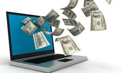 Your computer won't take cash, but there are multiple ways to send money online. See banking pictures.