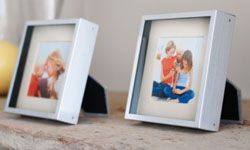 Show your style savvy with silver picture frames.