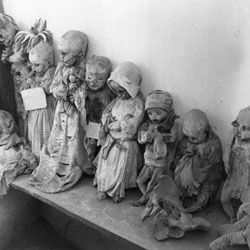 These mummified infants are actually where they're supposed to be: the vault of a cemetery in Guanajuato, Mexico.