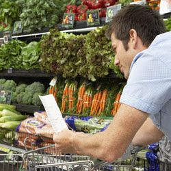 Plan ahead for weeknight meals. Make a list (and check it twice) when you're grocery shopping.