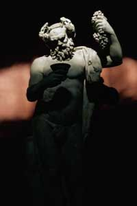 Bacchus, in statue form, parties down in the Vatican.