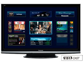 Panasonic's Internet televisions featuring Viera Cast are an example of televisions converging with computers.