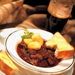 Stay in on a chilly fall evening, and cozy up to a hearty stew and dark beer.