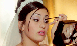 When applying your makeup on your wedding day, consider going for a natural look.