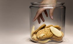 Store your perfect cookies in an airtight container.