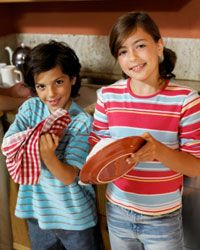 Don't be afraid to put kids to work in the kitchen.