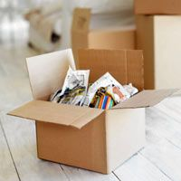 You can get all of your moving boxes for free from package and grocery stores.