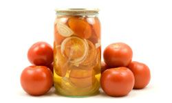 Like regular pickles, pickled tomatoes have a long shelf life.