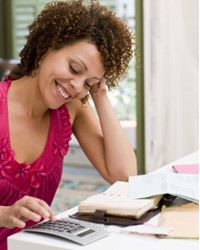 Taking control of your finances can be fun. Just ask this lady!