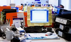 Look familiar? Some of us work fine with a messy desk, but others don't.