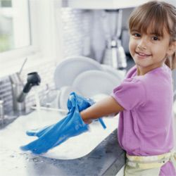 Protecting your hands and your nails can be as simple as donning a pair of gloves when doing the dishes.