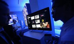 Sony's Internet TV, powered by Google TV, allows you to watch television and surf the Internet at the same time.