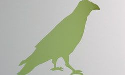 Twitter's signature birds are painted on the walls at headquarters.
