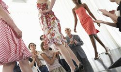 This runway could really use some plastic bag couture gowns.