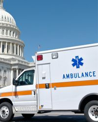 In the ambulance chain race, ambulances race while towing cars.