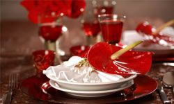 Set the table for romance with lots of red. See more pictures of aphrodisiac foods.