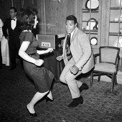 The King of the Twist himself, Chubby Checker, demonstrates his expertise.