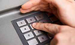 Always cover the keypad when you input your pin number into the ATM machine.
