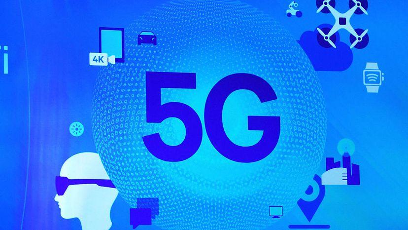 A 5G sign