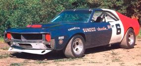 The Penske Racing Team Javelin was built at a cost of over $100,000 and campaigned by Mark Donohue in 1970, Peter Revson in 1971, and raced by others from 1972-1983.